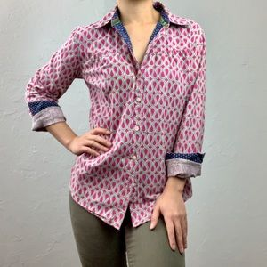 Anthro: Isabella Sinclair pink button down PS